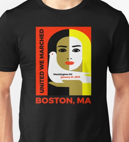 Women's March On Boston Mass 2017 Collectible  Unisex T-Shirt