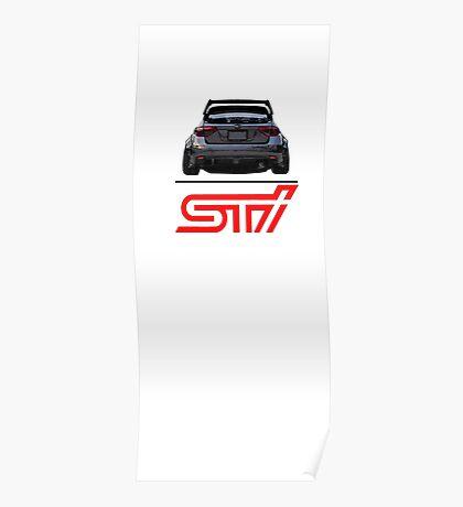STI Hatchback ass Poster