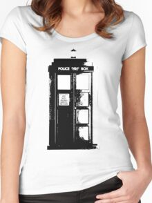 Tardis Noir Women's Fitted Scoop T-Shirt