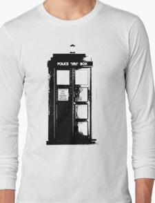 Tardis Noir Long Sleeve T-Shirt