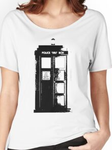 Tardis Noir Women's Relaxed Fit T-Shirt