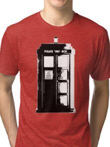 Tardis Noir Tri-blend T-Shirt