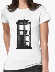 Tardis Noir Womens Fitted T-Shirt