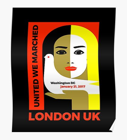 Women's March On London UK 2017 Collectible  Poster