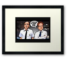 Cabin in the Woods Technicians Framed Print
