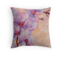 Orchid Song Throw Pillow
