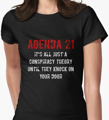 Agenda 21 United Nations Climate Change Conspiracy T-Shirt Womens Fitted T-Shirt