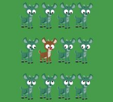LOOK! It's Rudolph! v2(Green) Kids Clothes