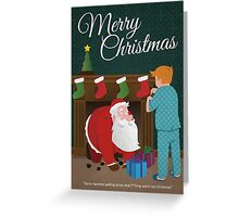 Santa Running Late Greeting Card