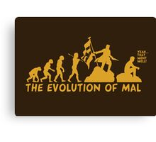 The Evolution Of Mal Canvas Print