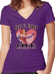 Ink & Paint Club Women's Fitted V-Neck T-Shirt