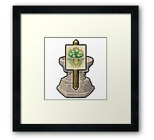 Glitch miscellaneousness proto shrine lem Framed Print