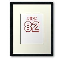 NFL Player Luke Willson eightytwo 82 Framed Print