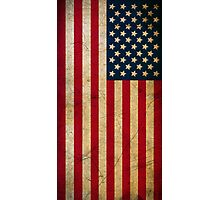 Vintage Grunge American Flag Photographic Print