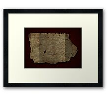 Goonies Treasure Map Framed Print