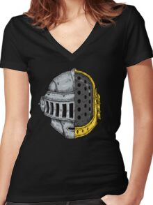 DAFT KNIGHT (Color Version) Women's Fitted V-Neck T-Shirt