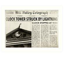 Hill Valley Telegraph Art Print