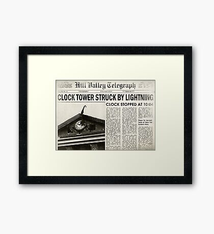 Hill Valley Telegraph Framed Print
