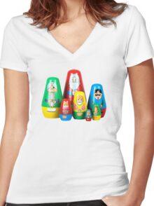 The Stevens Family Women's Fitted V-Neck T-Shirt