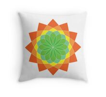 Colourful abstract flower Throw Pillow