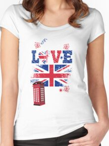 Awesome British Love T-Shirt Women's Fitted Scoop T-Shirt