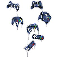 8-bit melting controllers Photographic Print