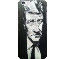 David Lynch portrait by William Wright iPhone Case/Skin