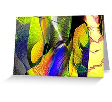 Three Layer Blender #1: Kneeling Woman abstract (UF0359)  Greeting Card