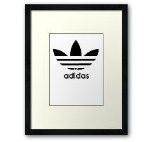 Adidas logo - black. Framed Print