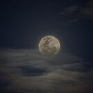 Nov 6, 2014 Full Moon  in Cloudy Sky (landscape) by Sandra Chung