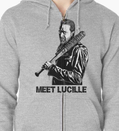 Negan-Lucille Zipped Hoodie