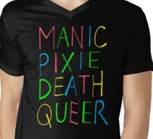 Manic Pixie Death Queer Mens V-Neck T-Shirt