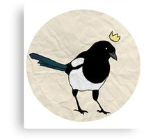King Magpie [Tee] Canvas Print