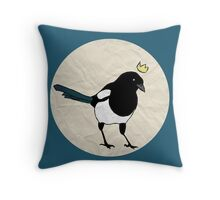 King Magpie [Tee] Throw Pillow