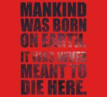 Mankind Was Born On Earth - Interstellar Stars Variation One Piece - Long Sleeve