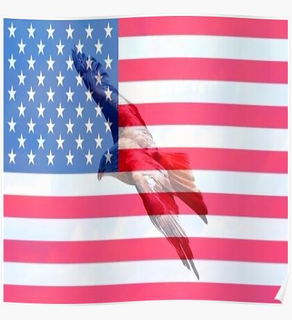 American Freedom Flag Poster