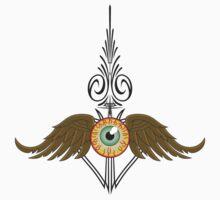 Flying Eyeball Pinstripe Kids Clothes