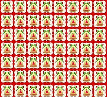 Christmas bells wallpaper red background by shoppy76