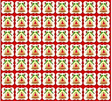 Christmas bells wallpaper red background Photographic Print