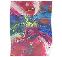 """Swooping"" original abstract artwork by Laura Tozer Poster"