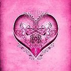 LOVE HEART - Pink by ifourdezign