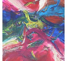 """Swooping"" original abstract artwork by Laura Tozer by Laura Tozer"