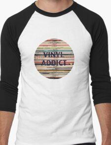 Vinyl Addict records Men's Baseball ¾ T-Shirt