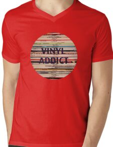 Vinyl Addict records Mens V-Neck T-Shirt