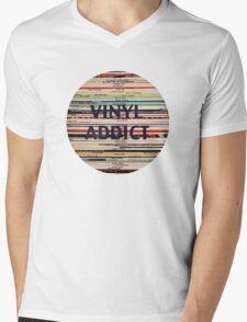 Vinyl Addict records Mens V-Neck T-Shirt