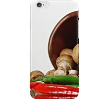 Peppers and Mushrooms iPhone Case/Skin