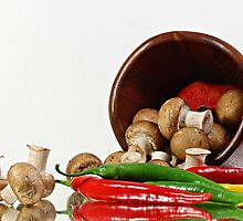 Peppers and Mushrooms by Dipali S