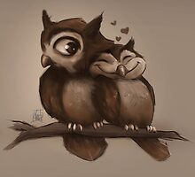 Owl Love You by nicolealesart