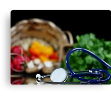 Health and wellness Canvas Print