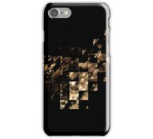 Bronze On Black Square iPhone Case/Skin